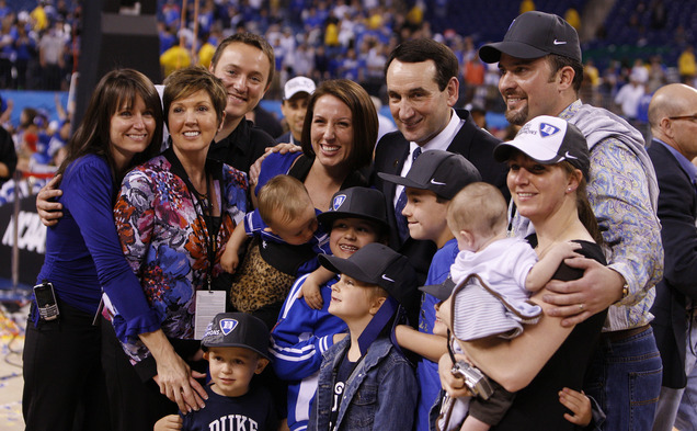Duke University Basketball >> Family and Friends - Official Website of Coach Mike Krzyzewski