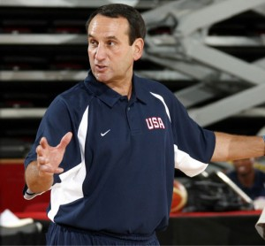 United States National Head Coach Mike Krzyzewski